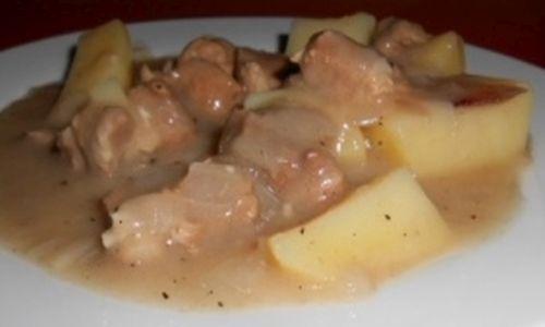 Emincé de porc au cidre