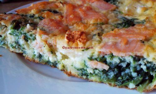 Gâteau épinards & saumon