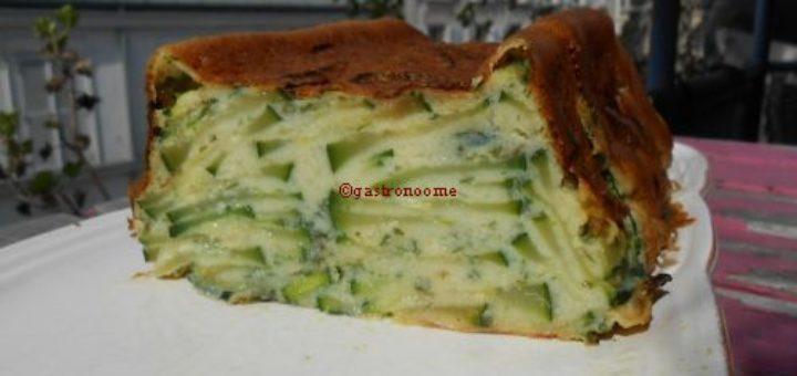 Gâteau froid de courgettes