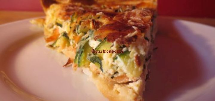 Quiche saumon & courgettes