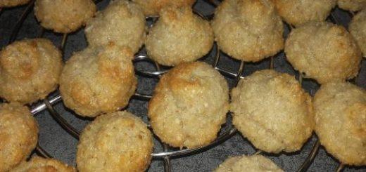 rochers à la noix de coco à la farine de pain azyme