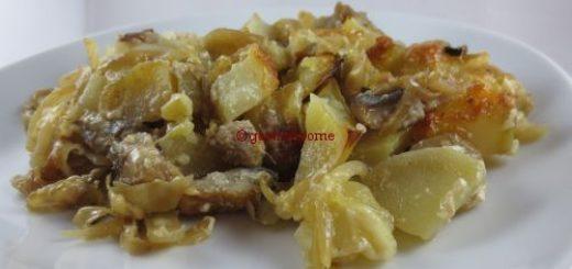 Gratin de pommes de terre aux harengs fumés