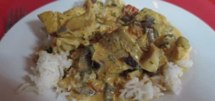 Filets de colin au curry