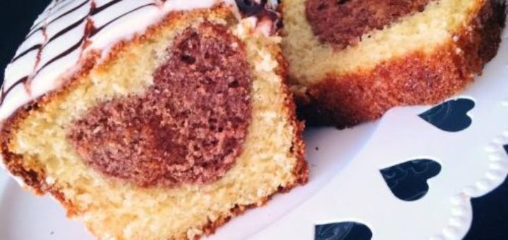 Cake ultra moelleux au mascarpone avec insert coeur
