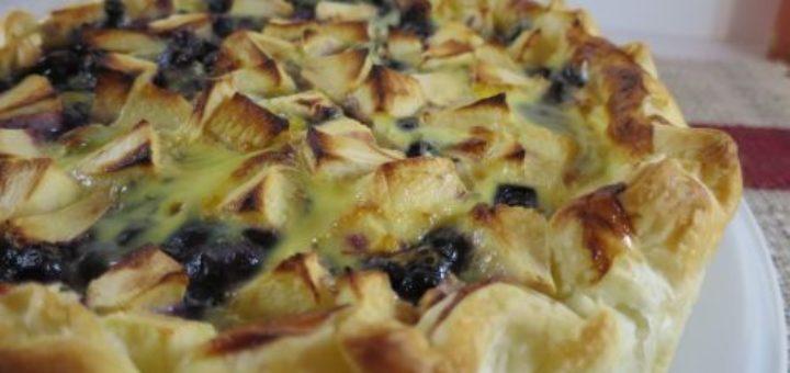 Tarte pommes & myrtilles