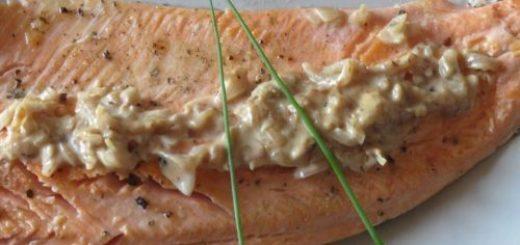 Filets de truite sauce échalotes et vin blanc