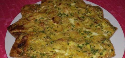 Omelette de pommes de terre au four