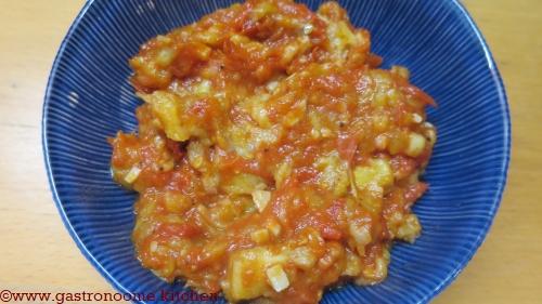 Compotée de tomates et aubergines
