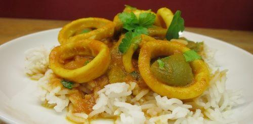 Calamars au curry