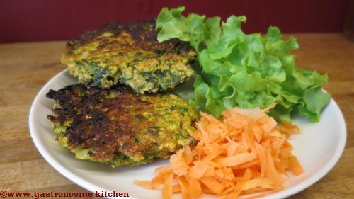 végétarien - Galettes aux fanes de carottes