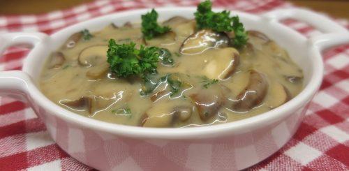 recette vegan - Sauce vegan aux champignons