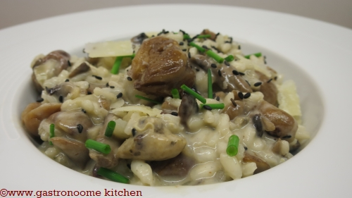 Risotto marrons & champignons