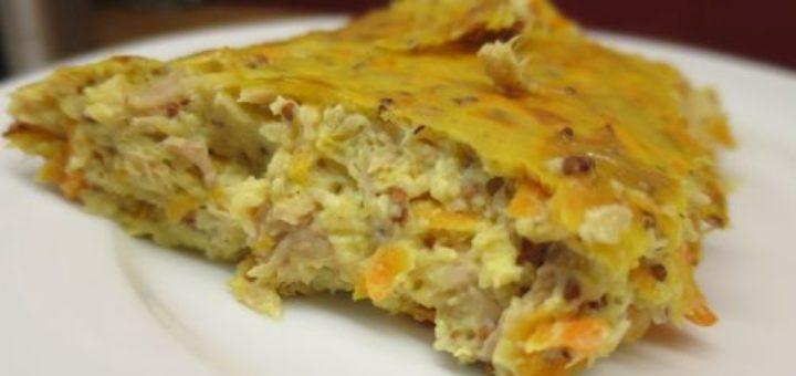 Quiche sans pâte thon & carottes