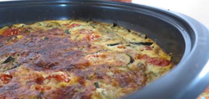 Clafoutis tomates & courgettes au chèvre