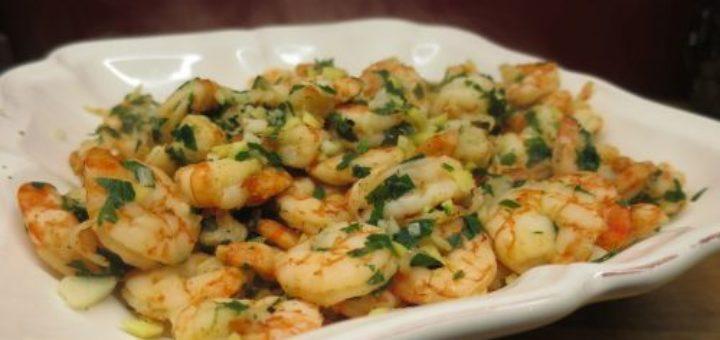 Crevettes à l'ail et au gingembre à l'actifry sans MG